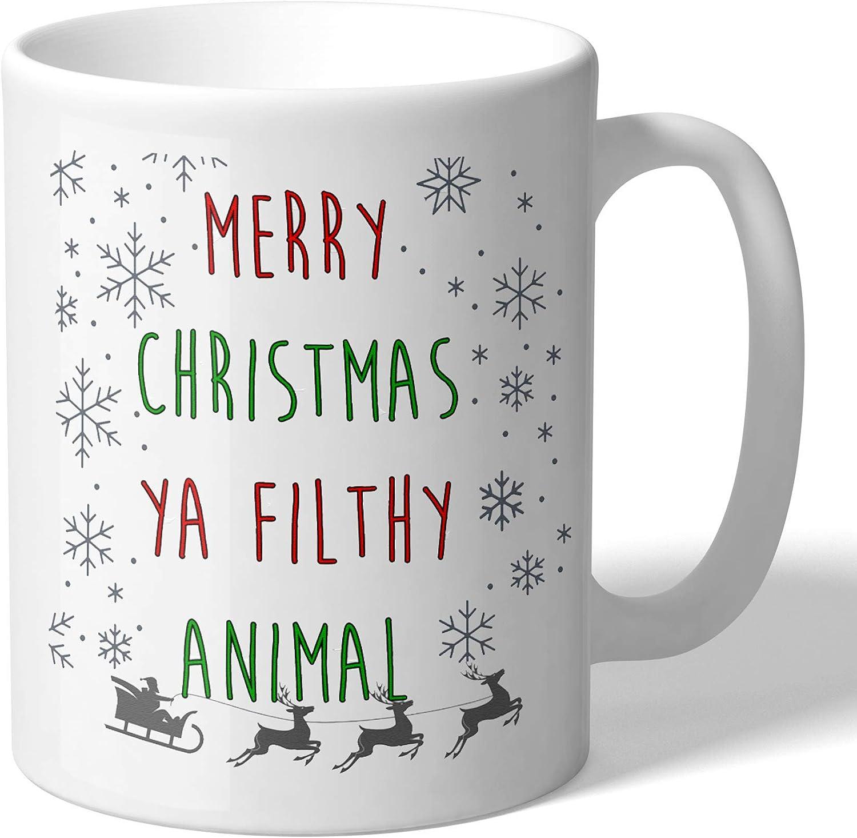 MugBros Home Alone Inspired Merry Christmas Ya Filthy Animal Funny Christmas Mug Novelty Coffee Mug