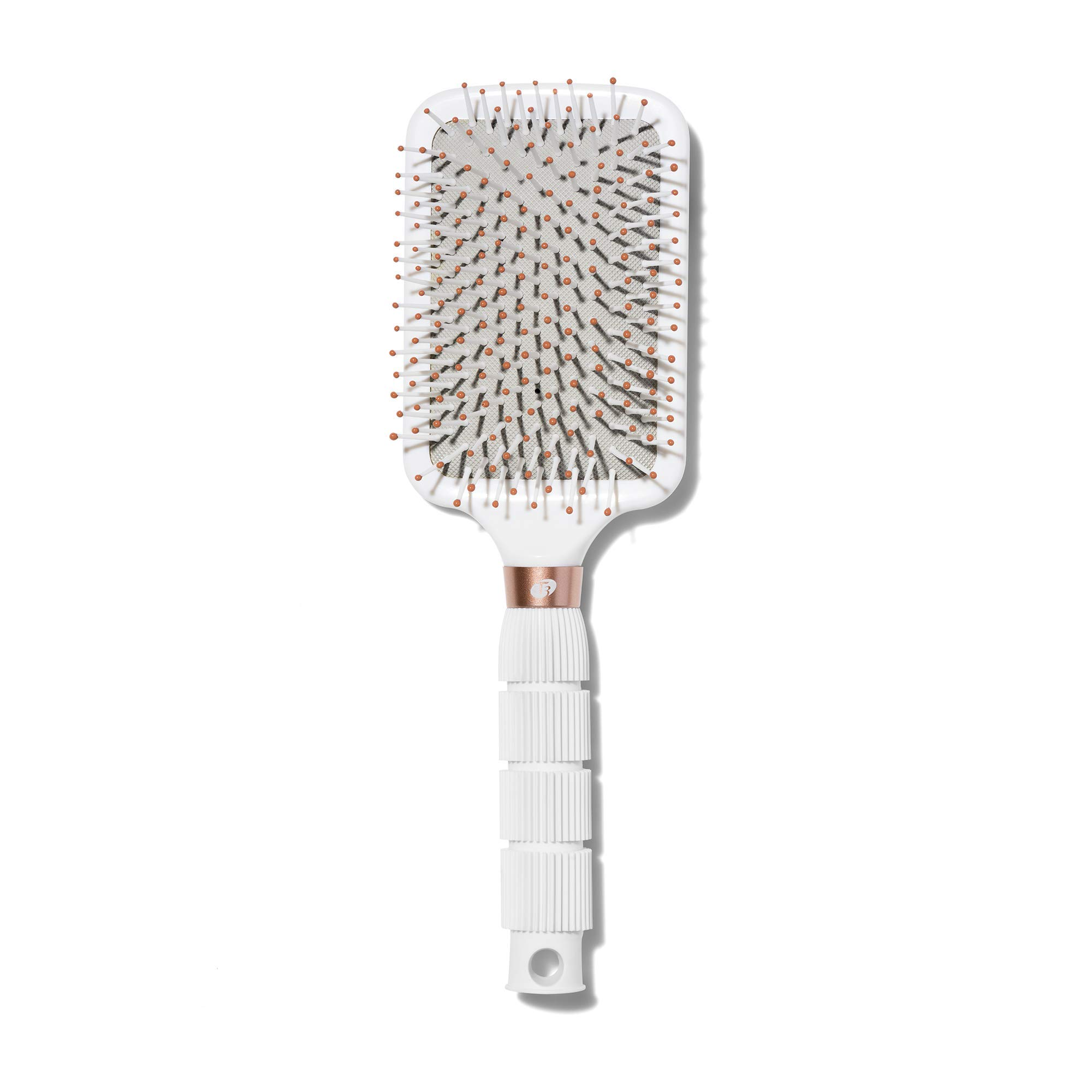 T3 - Smooth Paddle Hair Brush | Professional Cushioned Paddle Brush for Sleek Smooth Blowouts | Heat Resistant Bristles