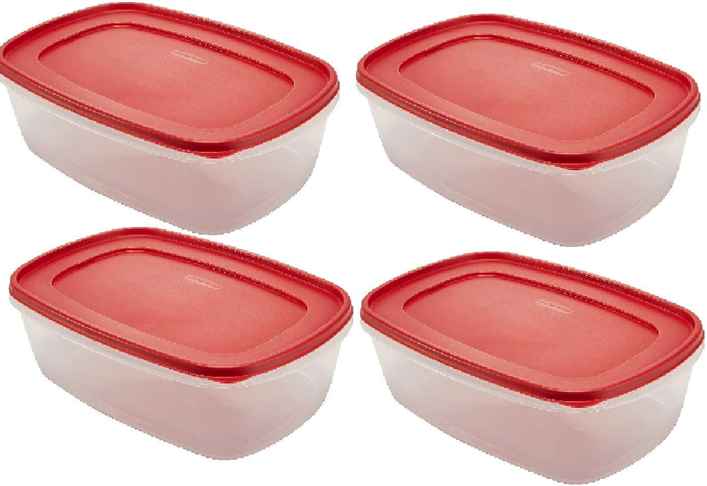 Rubbermaid 7J77 Easy Find Lid Rectangle 40-Cup 2.5 gallon Food Storage Container (Pack of 4)