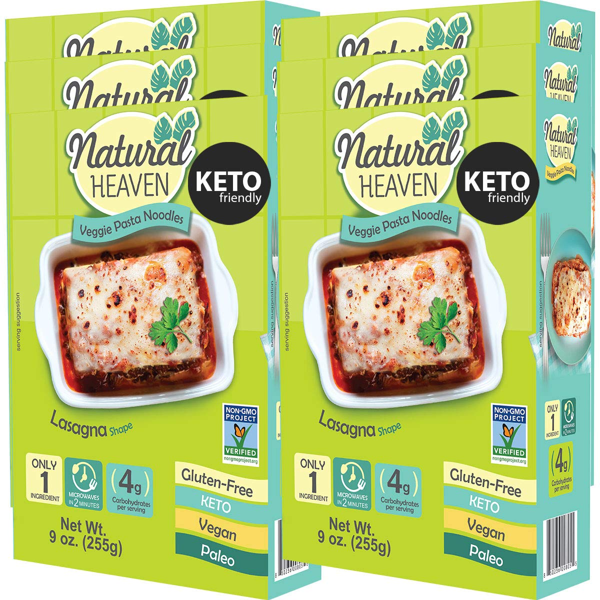 Natural Heaven Lasagna Hearts of Palm, 9 Ounce (Pack of 6) by Natural Heaven