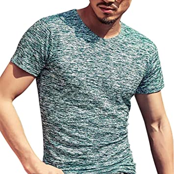c1250169a43e KEERADS Summer Mens Casual Long Sleeve Slim Crew Neck Jersey Pullover T  Shirts (UK XXL