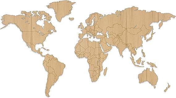 Giallobus - Mapa del Mundo - DECORACIÓN DE Paredes EN Madera EN ...