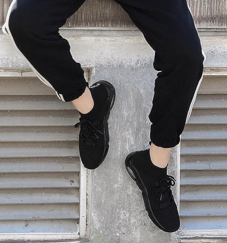 Zapatos para Correr Deportivas para Hombre Caminar Fitness Slip on Zapatillas con Knit Calcet/ín Alta Top Air Sneakers Negro Gris Rojo Blanco 38-45