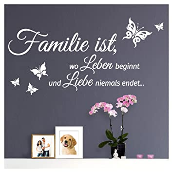 Grandora Wandtattoo Spruch Familie Ist Wo Leben Beginnt Und Liebe