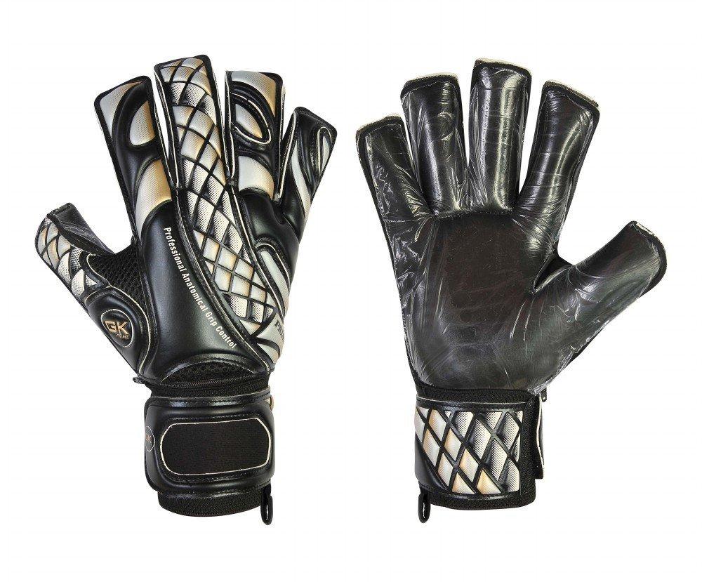 GK Prime Torwart-Handschuhe für Fußball, Schwarze Kontakthanfschuhe, Rollen-Fingerhandschuhe