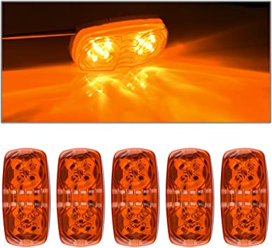 Bargman 42-99-402 Side Marker Light Waterproof LED with Self-Ground Stud - Amber