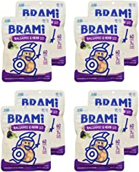 BRAMI Lupini Bean Snack, Balsamic & Herb | Plant Protein, Vegan, Gluten-Free, Low Calorie, Keto, Lightly Pickled, Mediterranean Legume | Pack of 8, 5.3 oz (150g)