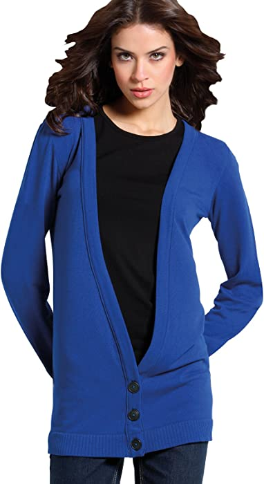 beb2035690b4 SENSI  Cardigan Women s Knitwear Maxi Cardigan with Buttons Made in ...