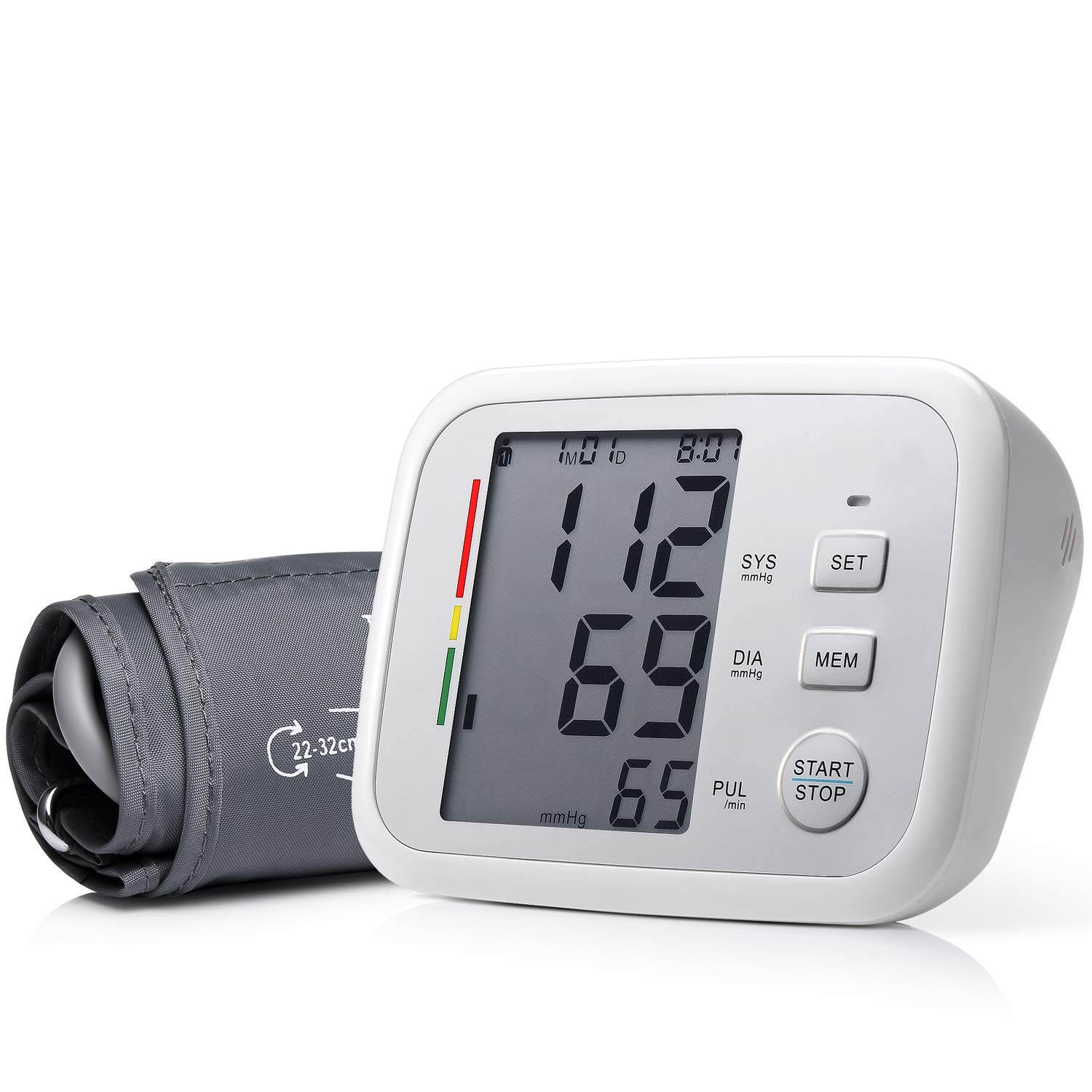 Prymax Blood Pressure Monitor Upper Arm Large Cuff Fits Arms 8.5-17 Inches Portable Automatic Digital Monitor, FDA Approved, at Home, Irregular Heart Beat Detection, Large Screen, 2 User*90 Reading by PRYMAX (Image #1)