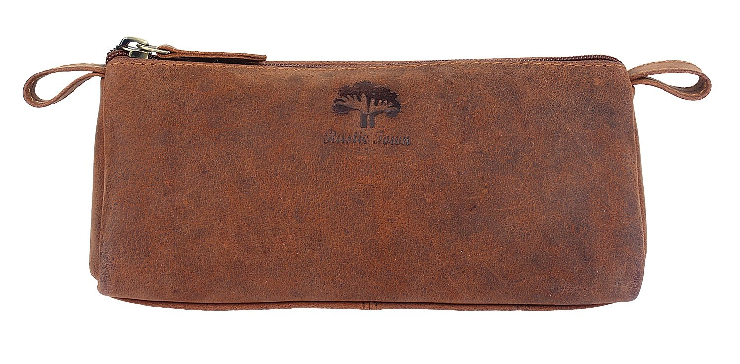 Leather Pencil Case - Zippered Pen Pouch for School, Work & Office by Rustic Town by RusticTown (Image #3)