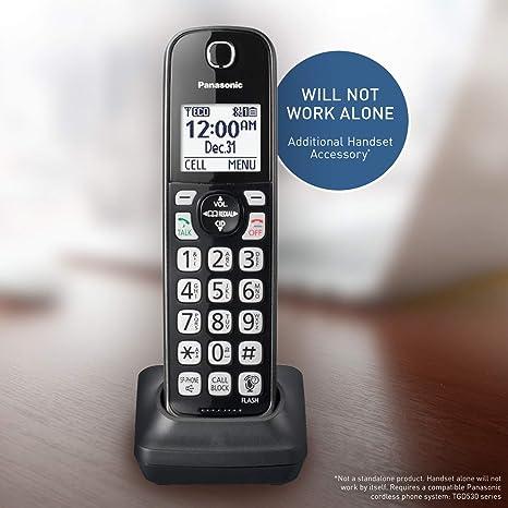 Panasonic Phone Number >> Panasonic Cordless Phone Handset Accessory Compatible With Kx Tgd562 Kx Tgd563 Kx Tgd564 Series Cordless Phone Systems Kx Tgda51m Metallic
