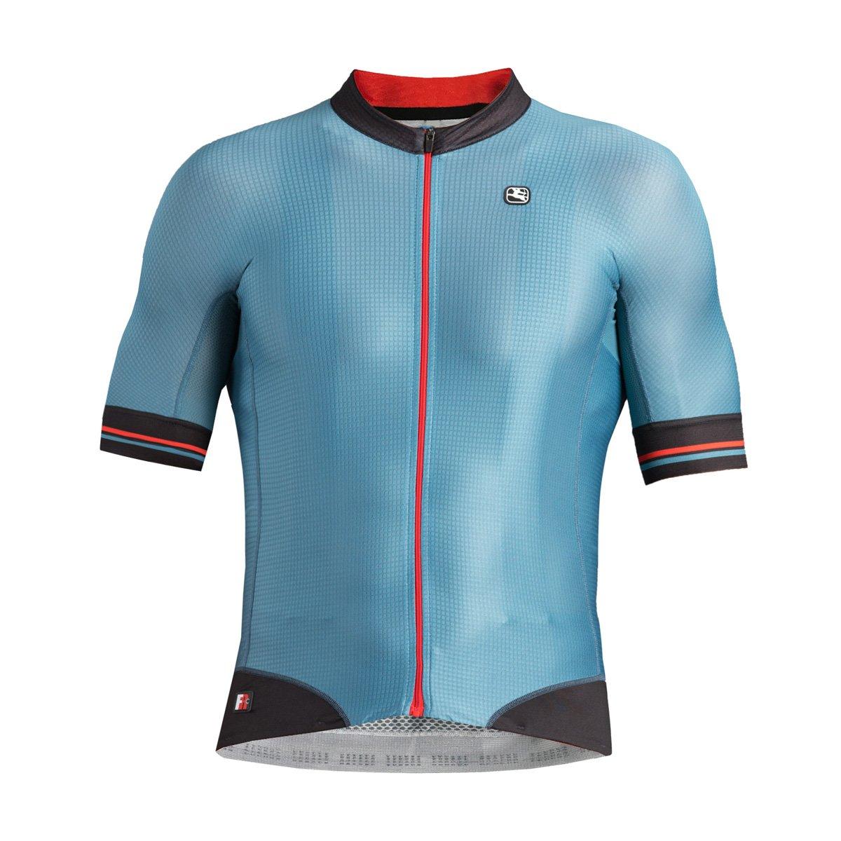 Giordana fr-c Pro半袖Jersey – Men 's B077GW62Z7 Large|ブルー/ブラック ブルー/ブラック Large