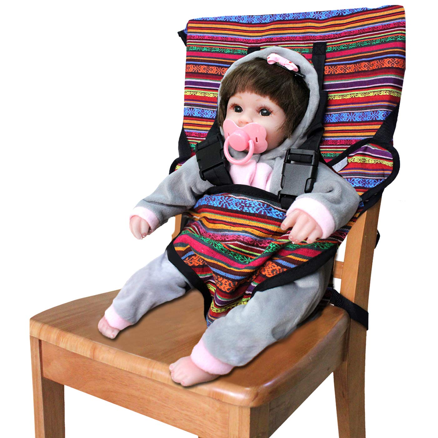 Portable Infant Safety Easy Seat, Travel High Chair Baby Feeding Booster Safety Seat, Soft Safety Chair Belt for Toddlers and Children