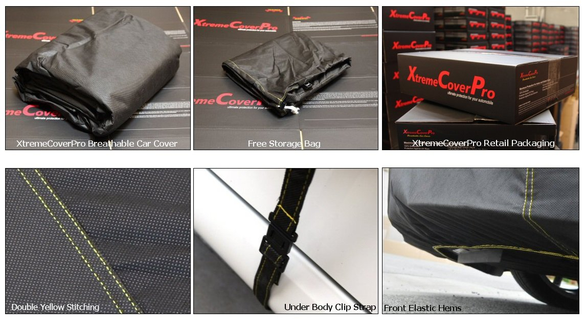 Space Gray XtremeCoverPro 100/% Breathable Car Cover for Select Mercedes CL Class Coupe CL500 CL600 CL550 CL63 CL65 AMG 2007 2008 2009 2010 2011 2012 2013 2014 2015 2016