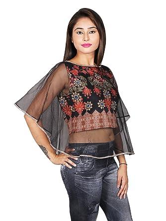 b1505f2b1104 Flax Fashion Digital Printed Designer Women s Regular Fit Tops ...