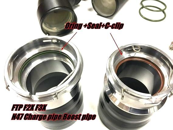 Amazon.com: 🔹 FTP 🔹 Black Aluminum for BMW N47 F2X F3X 20D Diesel Charge Pipe + Boost Pipe (320D / 318D / 120D / 220D / 420D): Automotive
