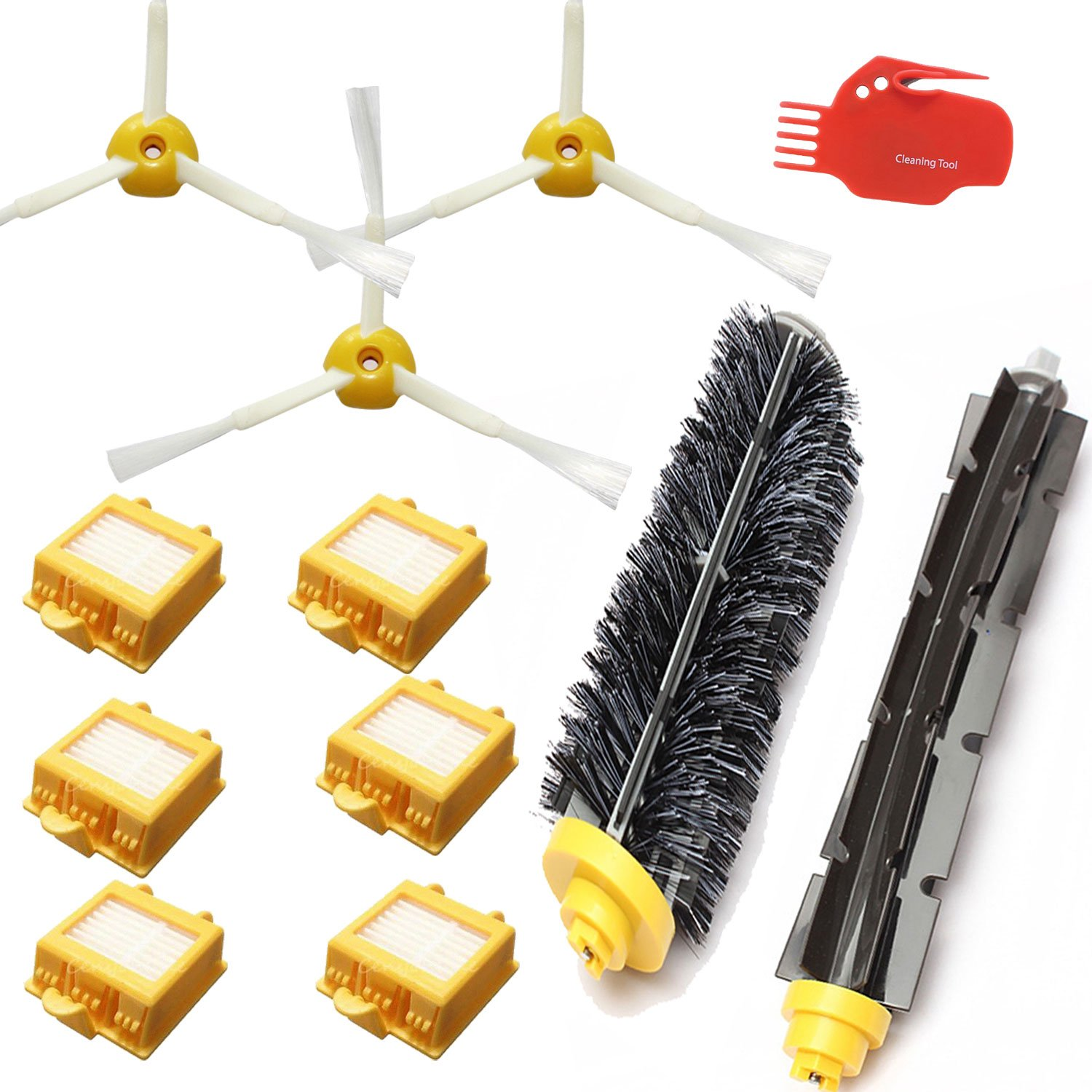 Smartide Accessory Kit for Irobot Roomba 700 760 770 780 790 Vacuum Cleaner Kit - Includes 6 Pc Filter, 3pc Side Brush, and 1 Pc Bristle Brush and Flexible Beater Brush, Cleaning Tool IRO-700