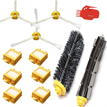 Smartide Accessory Kit for Irobot Roomba 700 760 770 780 790 Vacuum Cleaner Kit - Includes 6 Pc Filter, 3pc Side Brush, and 1 Pc Bristle Brush and ...