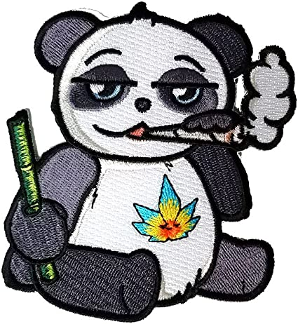 Pot Smoking Pals Smoking Rasta Lion Iron on Embroidered Patch On Jacket Shirt