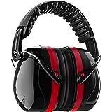イヤーマフ 防音用 遮音値34dB 騒音防止や聴覚保護用 ANSI S3.19&CE EN352-1認証済み 大人・キッズ兼用 軽量で携帯便利 聴覚過敏・射撃・仕事・勉強・睡眠などに適用 レッド