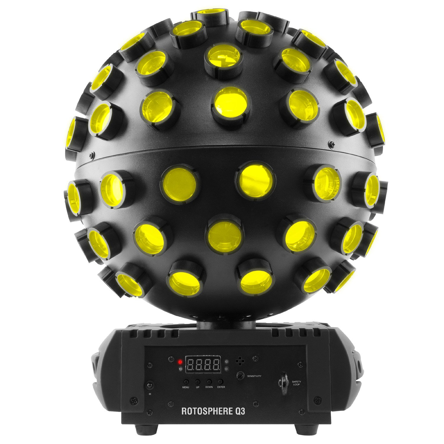 Chauvet DJ Rotosphere Q3 RGBW LED Mirror Ball Simulator Effect with 1 Year Free Extended Warranty