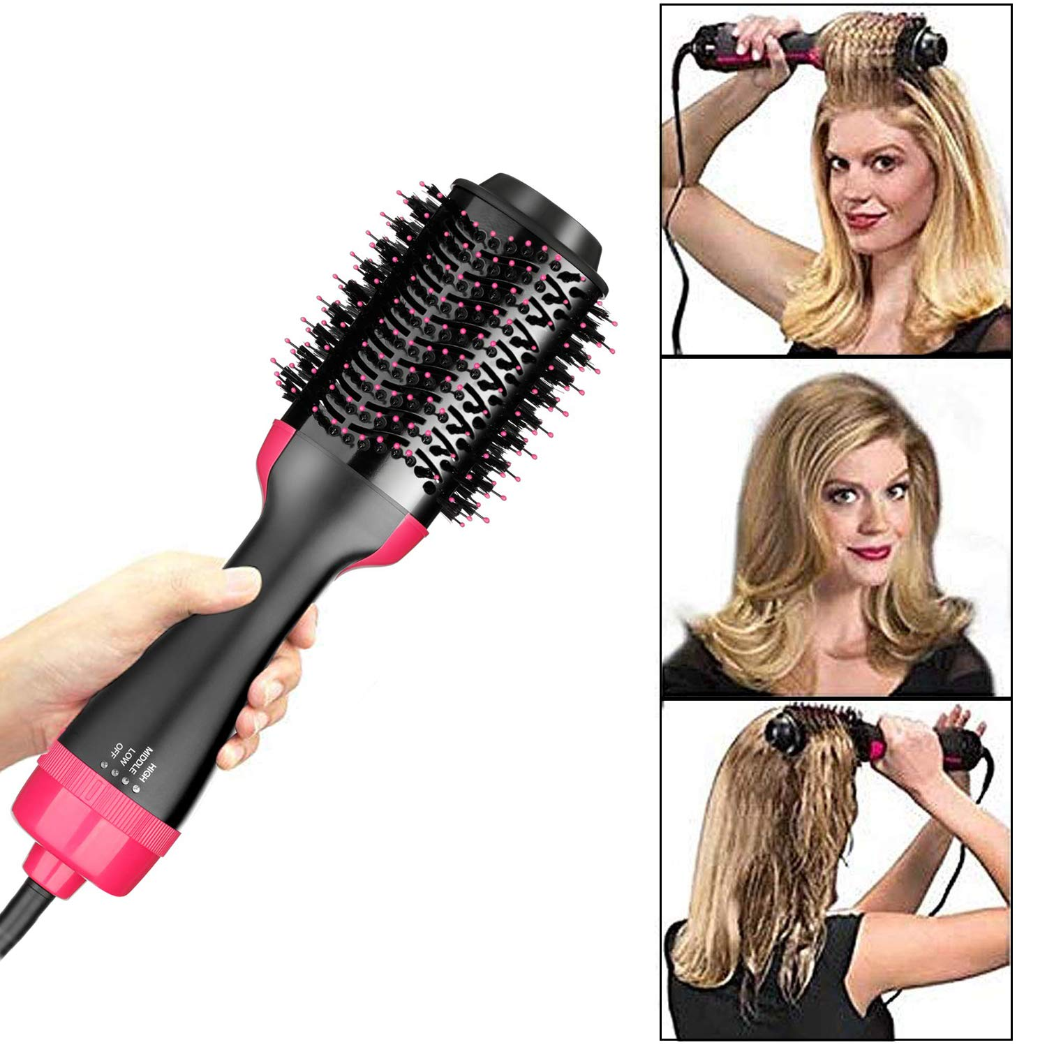 One Step Hair Dryer and Styler and Volumizer, Hot Air Brush Styler and Dryer In One Hair Straightener and Curler for Hair Styling Tools