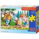 Castorland - B-06519-1 - Puzzle - Les Trois Petits Cochons - 60 Pièces