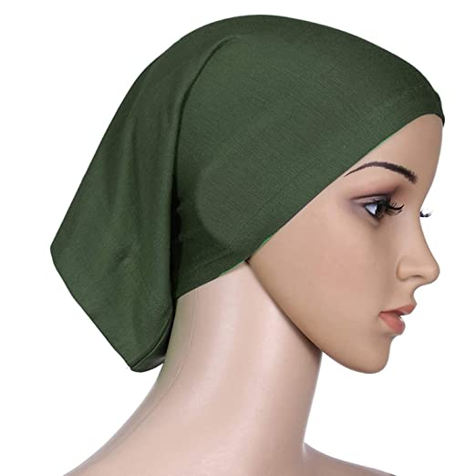 c9175c09894765 Image Unavailable. Image not available for. Color: XINBONG New Women  Fashion Muslim Turban Hats Indian Caps Wrap Cap ...