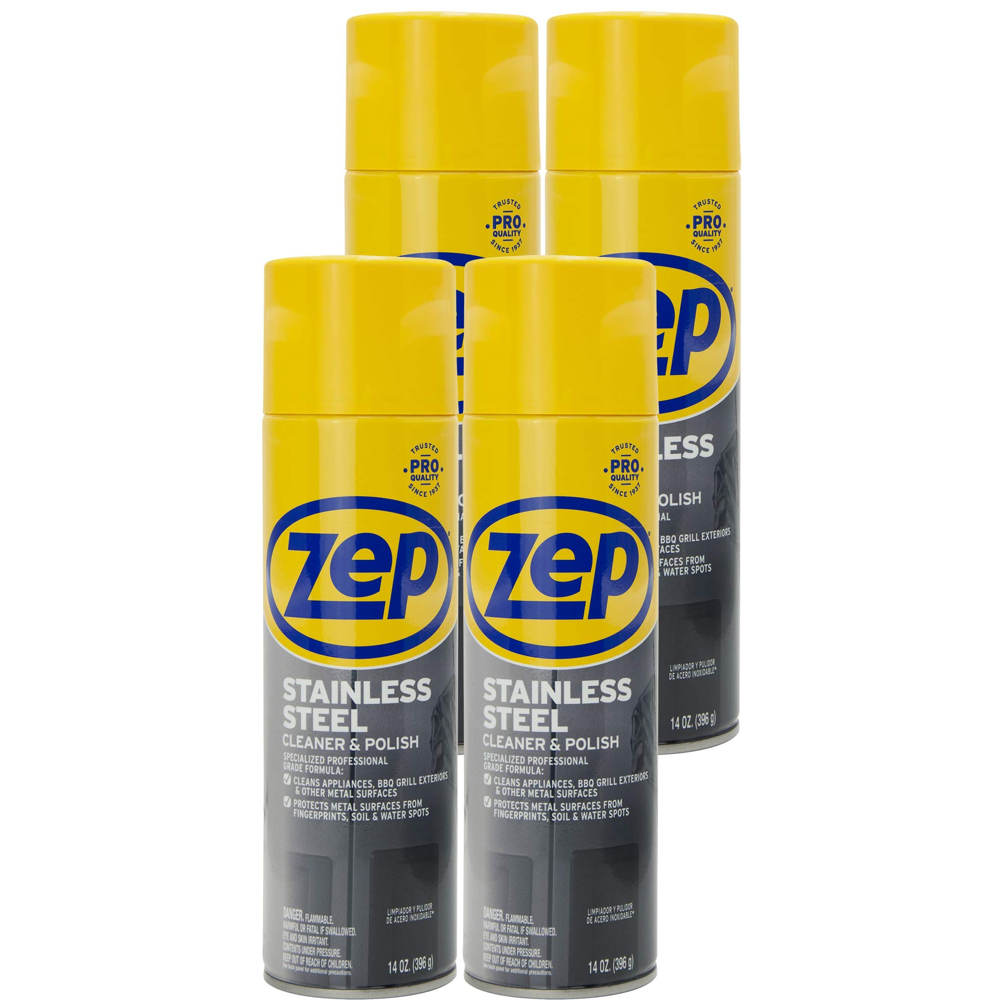 Zep Stainless Steel Cleaner 14 Ounce ZUSSTL14 (case of 4) by Zep (Image #1)