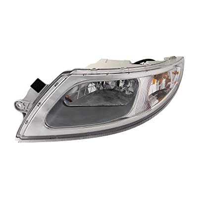 HEADLIGHTSDEPOT Chrome Housing Halogen Headlight Compatible with International International Harvester 4100 4200 4300 4400 8500 TranStar 8600 Includes Left Driver Side Headlamp: Automotive
