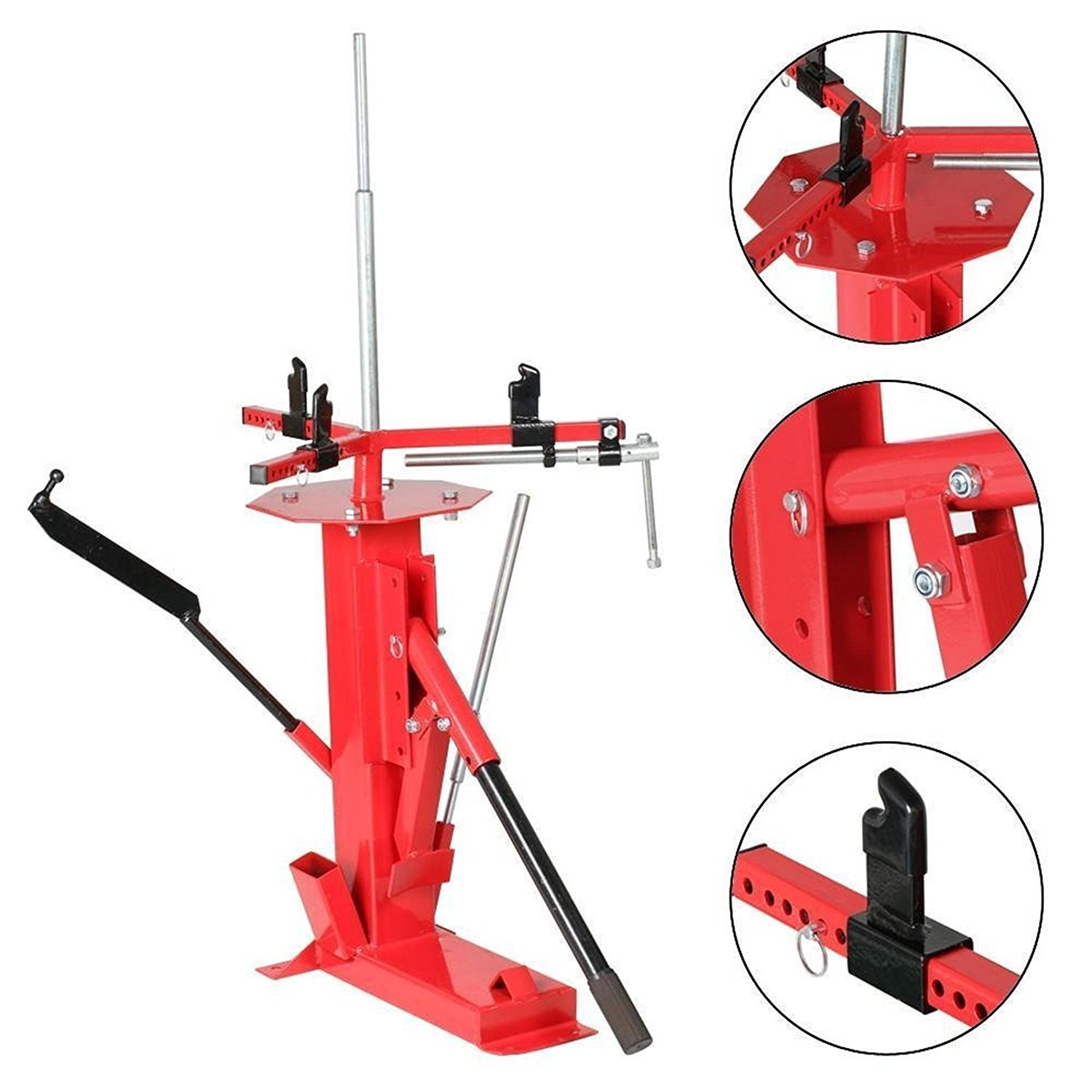 Smartxchoices Steel Manual Tire Changer For Motorcycle GoCart Trailer Bike ATV Truck Tire Repair Tool 4'' to 16.5''