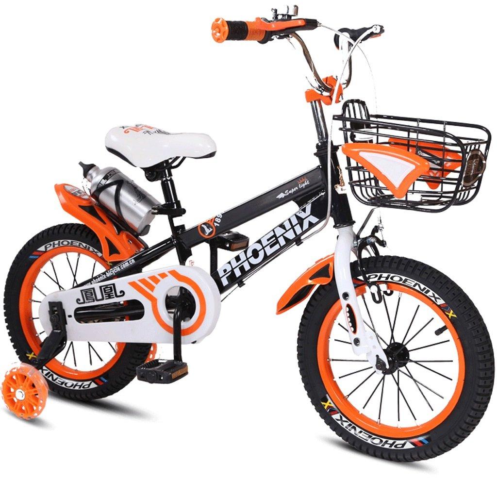 子供用自転車3~12歳のベビー用自転車男性用と女性用自転車用ベビーカー (色 : オレンジ, サイズ さいず : 14 inches) B07D5V4BGY 14 inches|オレンジ オレンジ 14 inches