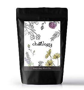 Chaiology Darjeeling Whole Leaf Black Tea, 50g (25 Cups)