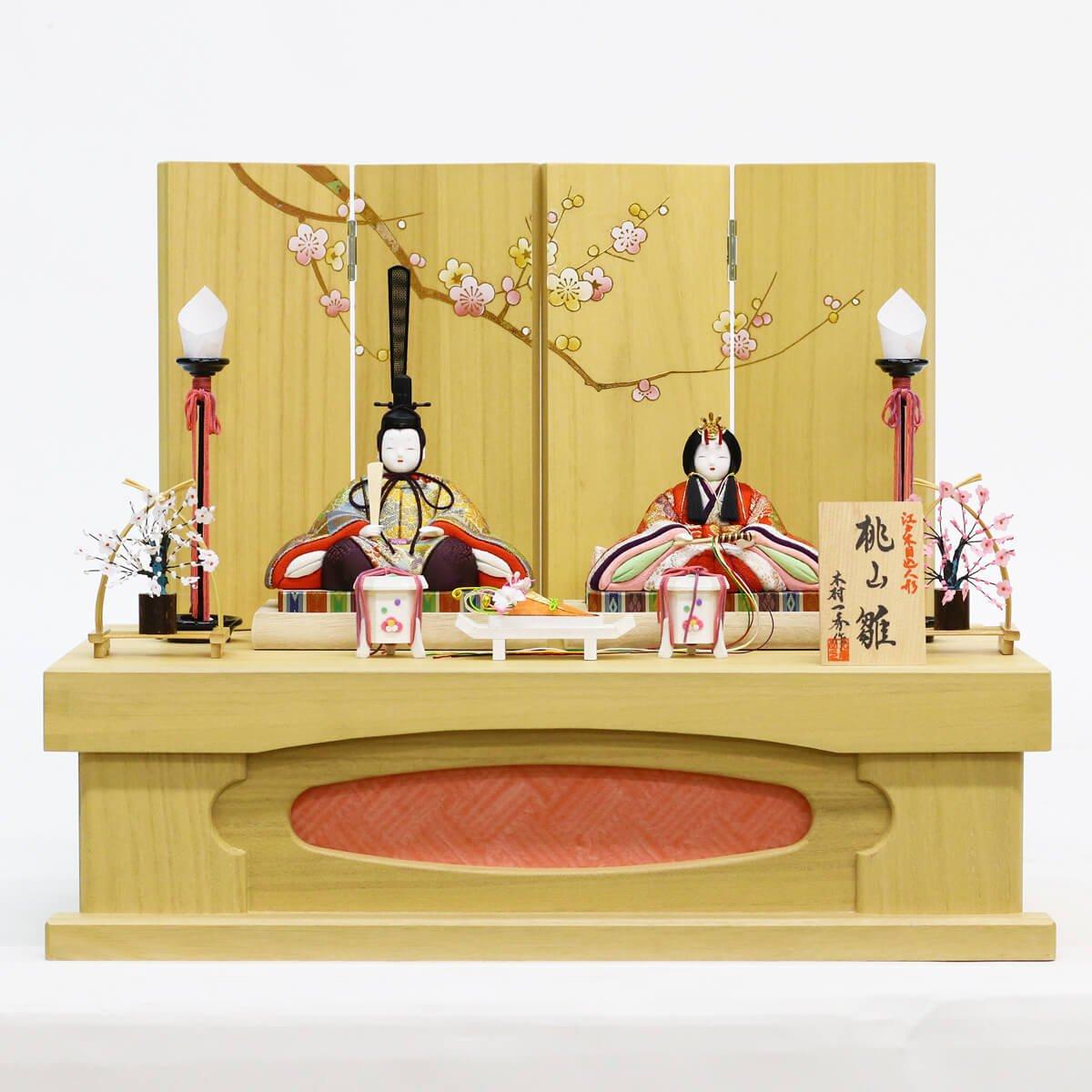雛人形 一秀 親王飾り 桃山雛 150号 桐収納飾り HNIS-H-51 木目込み ひな人形 コンパクト   B078K8P1VS