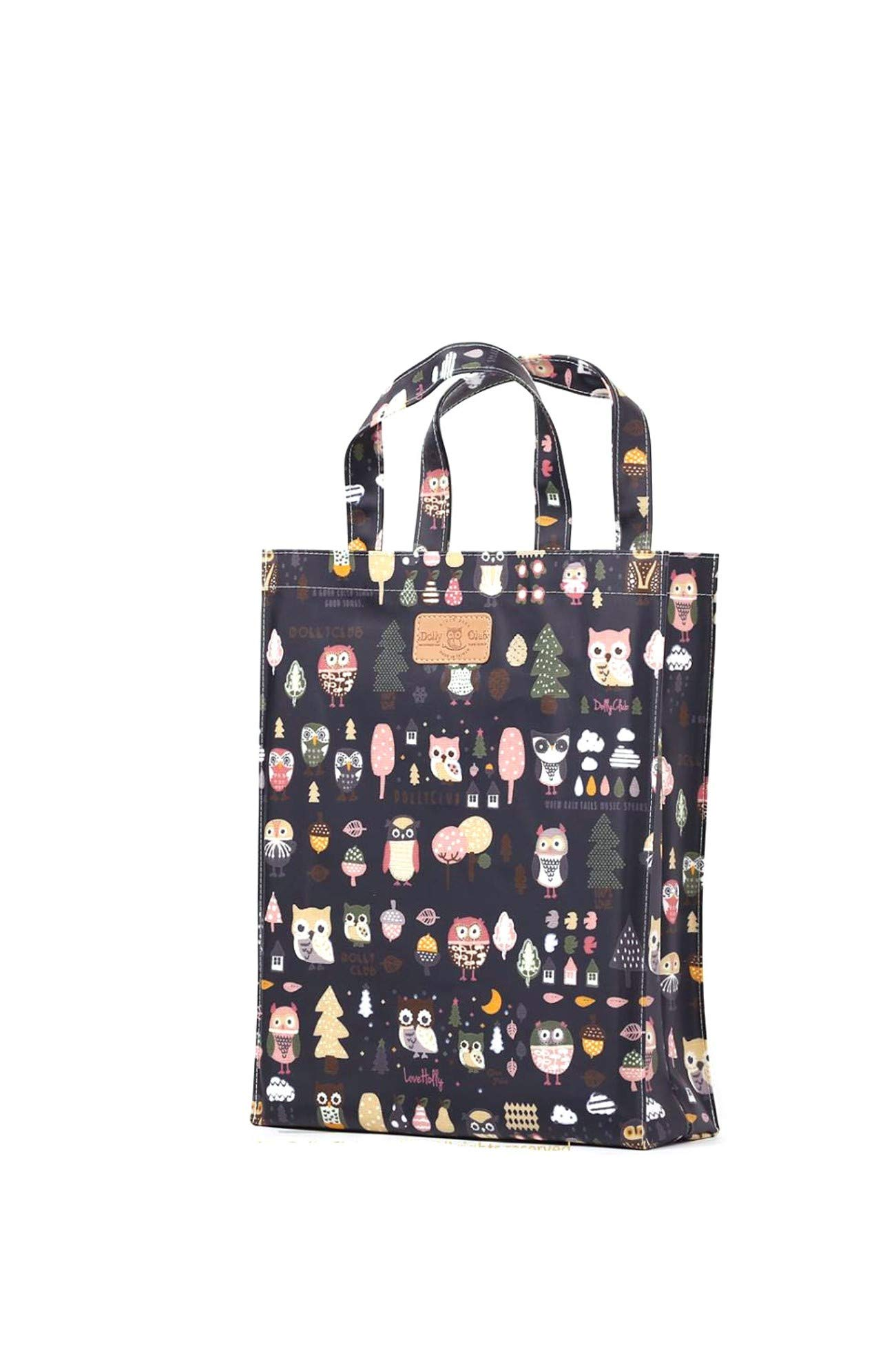 Shopping Bag Water Proofed Oilcloth Tote Bookbag with Gusset Music Bag PVC-coated bag Tote Bag