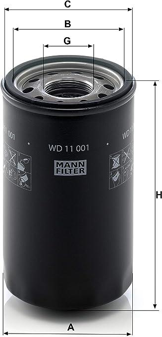 Sistema Idraulico Di Lavoro Filtro Mann Filter WD 11 002