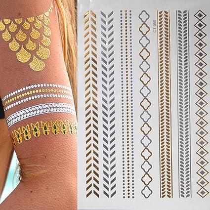 7pcs Flor barata del tatuaje etiqueta engomada del tatuaje del ...
