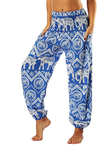 Mujer Pantalones Harem Impresión Verano Pantalones...