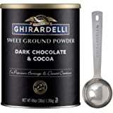 Ghirardelli Sweet Ground Dark Chocolate & Cocoa Powder, 3 Pound Can (Pack of 1) with Limited Edition Measuring Spoon