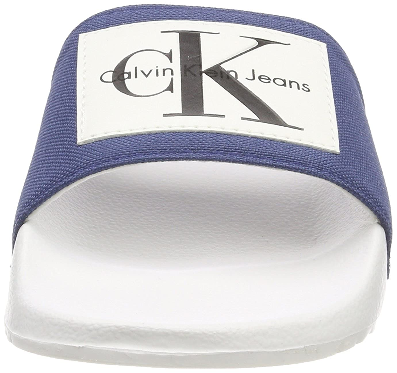 Calvin Klein Jeans Damen Chloe Nylon Peeptoe Peeptoe Nylon Sandalen Blau (Stb 000) 86e320