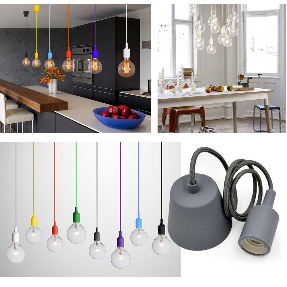 princeway colorful gel di silice a infisso di lampade da soffitto ... - Illuminazione Soggiorno E Sala Da Pranzo 2
