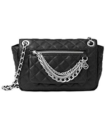 64e6c6b030c20d Amazon.com: MICHAEL Michael Kors Womens Cheyenne Leather Quilted Satchel  Handbag Black Small: Clothing