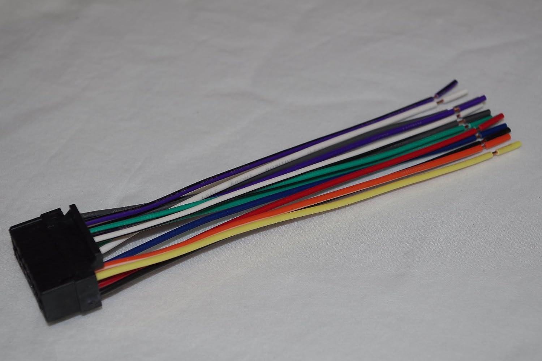 71zaFsxBatL._SL1500_ amazon com wire harness for jvc models kd apd49, kd ar200, kd jvc kd-s17 wiring harness at gsmx.co