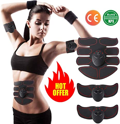 Abdominal Toner Muscle Trainer Charminer Abs Smart EMS Fitness Toner Weight Lost