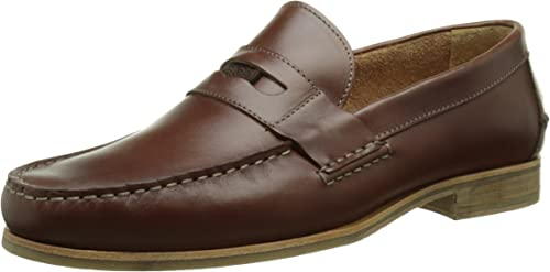 Men/'s Fashion Cognac Boat Shoe in Genuine Leather Made in Portugal