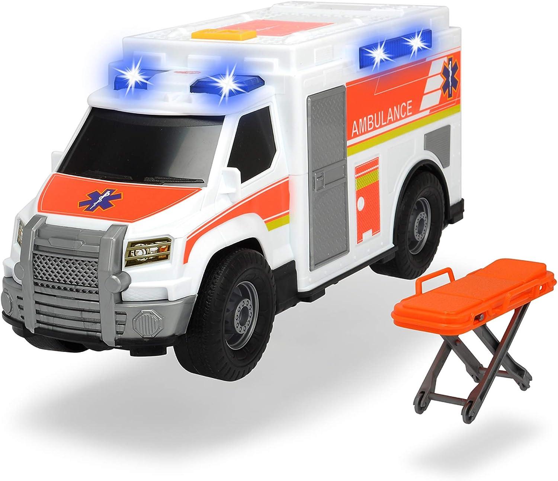 Dickie- Ambulancia luz y Sonido Action Series 30cm 3306002 Juguete