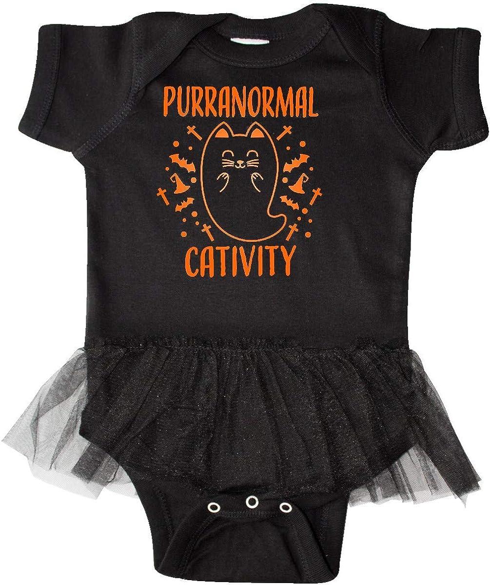 inktastic Purranormal Cativity with Cute Orange Cat Ghost Infant Tutu Bodysuit