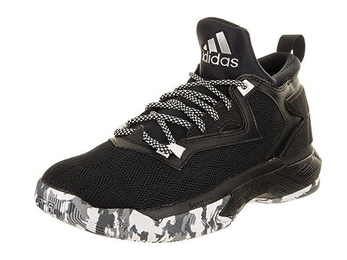 Adidas D Lillard 2 - Scarpe da basket per uomo, UOMO, nero/bianco