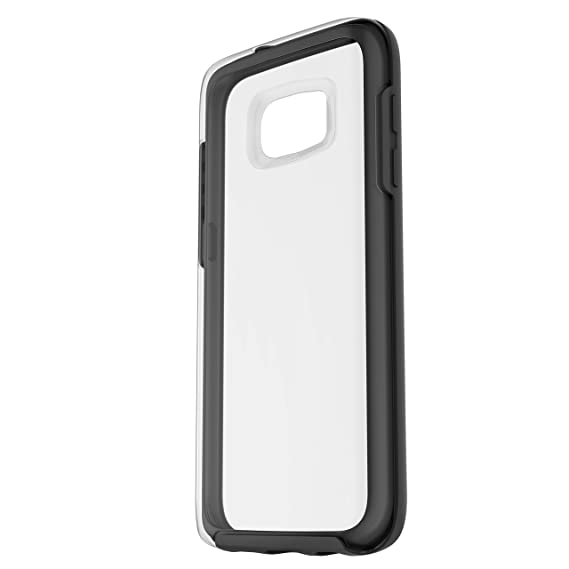sports shoes d0b90 30480 OtterBox Symmetry Clear Series Case for Samsung Galaxy S7 - Retail  Packaging - Black Crystal (Clear/Black)