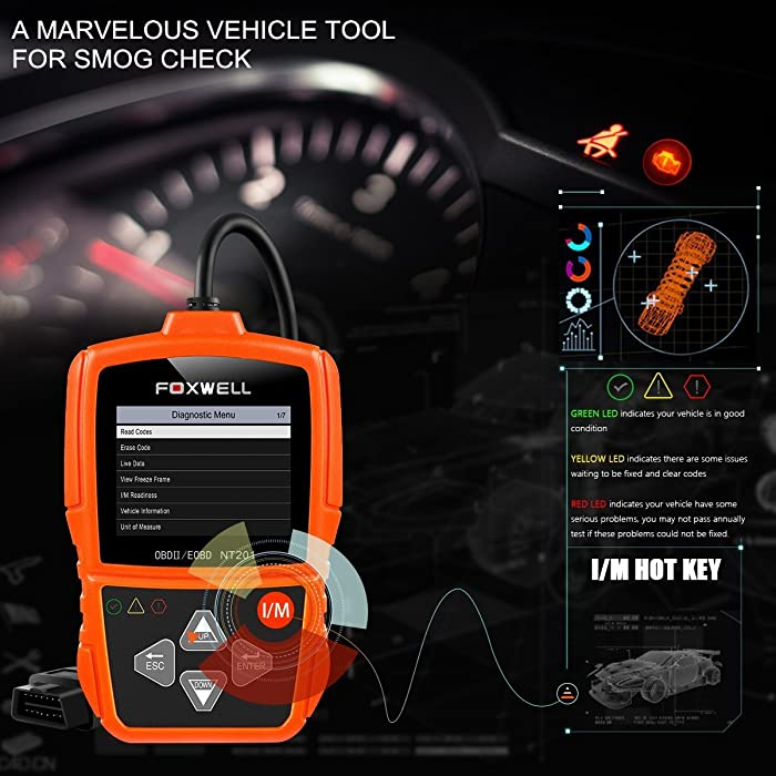 FOXWELL NT201 is one of the best OBD2 scanners you can choose